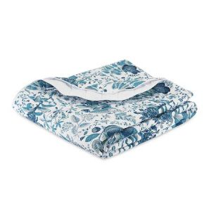 MSC006KQUIPH POMEGRANATE Prussian Blue Schumacher King Quilt