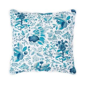 MSC006QESHAPH POMEGRANATE Prussian Blue Schumacher Quilted Euro