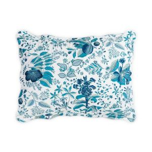 MSC006QKSHAPH POMEGRANATE Prussian Blue Schumacher Quilted King Sham
