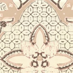 6430-04WP NEW BATIK Taupe Brown On Off White Quadrille Wallpaper