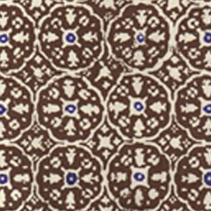 149-38WP NITIK II New Brown New Navy On Almost White Quadrille Wallpaper