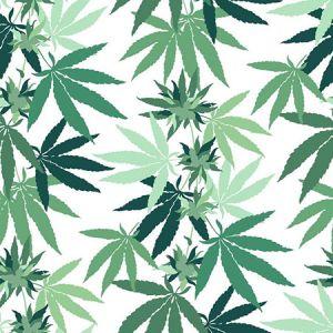 Nathan Turner Cannabis White Wallpaper