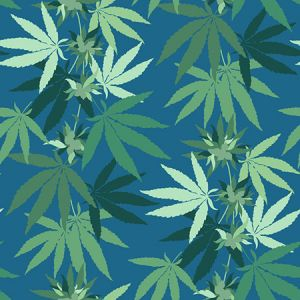 Nathan Turner Cannabis Cadet Blue Wallpaper