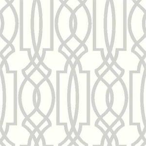 NW31508 Soft Gray Deco Lattice Seabrook Wallpaper