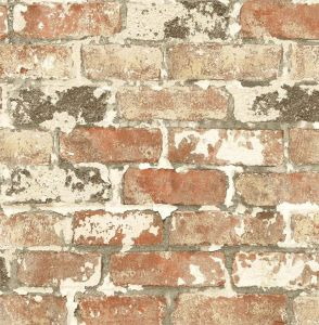NW32301 Weathered Red Brick Seabrook Wallpaper