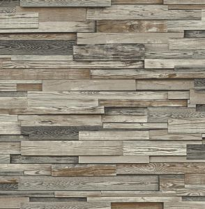 NW32601 Reclaimed Wood Plank Seabrook Wallpaper