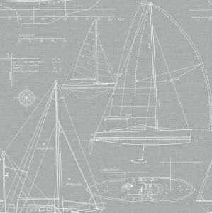 NW32908 Yacht Club Seabrook Wallpaper