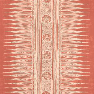 P2018107-119 INDIAN ZAG PAPER Madder Lee Jofa Wallpaper