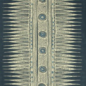 P2018107-50 INDIAN ZAG PAPER Indigo Lee Jofa Wallpaper