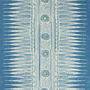 P2018107-505 INDIAN ZAG PAPER Marine Lee Jofa Wallpaper