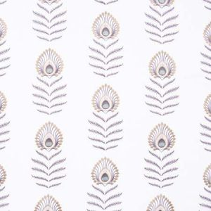 PEACOCK FEATHER Ivory Carole Fabric