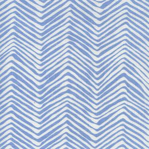 AC303-15WL PETITE ZIG ZAG French Blue on White Linen Quadrille Fabric