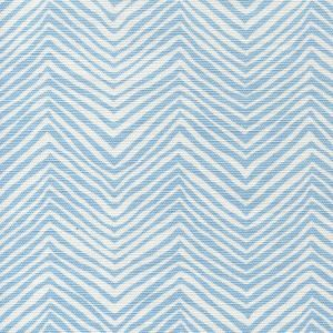AC303-34 PETITE ZIG ZAG New Blue on White Quadrille Fabric