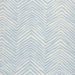AC303-105 PETITE ZIG ZAG Powder Blue on Tint Quadrille Fabric