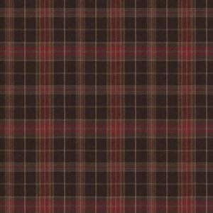 PHOENIX Plaid Chestnut Fabricut Fabric