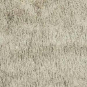 POLAR FUR Black White Fabricut Fabric