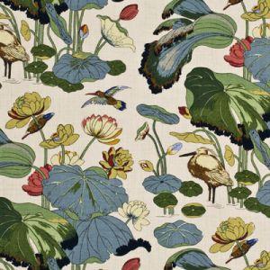 R1206-1 NYMPHEUS LINEN Stone Pistachio GP & J Baker Fabric