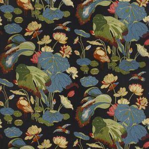R1206-7 NYMPHEUS LINEN Teal Green GP & J Baker Fabric