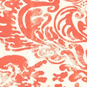 2330-30WP SAN MARCO Tomato On Off White Quadrille Wallpaper