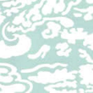 2335-42WP SAN MARCO REVERSE Aqua On Almost White Quadrille Wallpaper