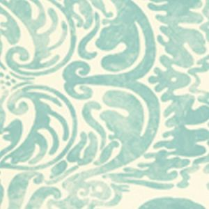 2330-03OWP SAN MARCO Turquoise On Off White Quadrille Wallpaper
