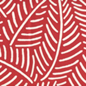 CP1025W-07 SAUVAGE REVERSE Red On Almost White Quadrille Wallpaper
