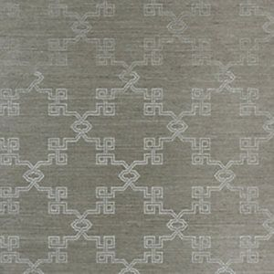 SC 0004WP88374 WP88374-004 SUZHOU LATTICE SISAL Silver On Pewter Scalamandre Wallpaper