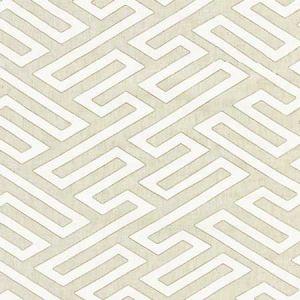 27218-001 CANTON FRET APPLIQUE Linen Scalamandre Fabric