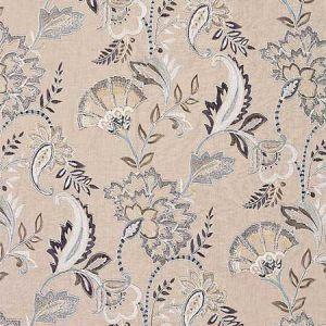 27036-002 ADARA EMBROIDERY Flax Scalamandre Fabric