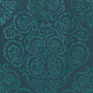 27219-003 CIRRUS VELVET DAMASK Emerald Scalamandre Fabric