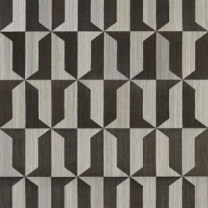 SC 0003 WP88463 MEZZO - SISAL Steel & Black Pearl Scalamandre Wallpaper