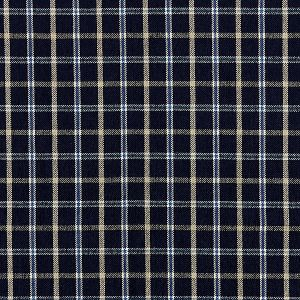 27121-004 BRISTOL PLAID Navy Scalamandre Fabric