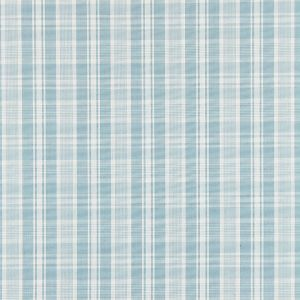 27122-004 PRESTON COTTON PLAID Sky Scalamandre Fabric