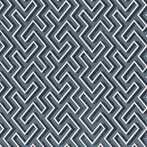 SC 0004 27237 MAZE VELVET Thunder Scalamandre Fabric