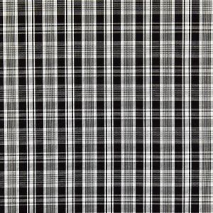 27122-006 PRESTON COTTON PLAID Noir Scalamandre Fabric