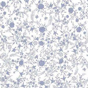 SD5249-1 Gulia Botanical Blue Brewster Wallpaper