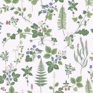 SD5259-3 Stormare Botanical Green Brewster Wallpaper
