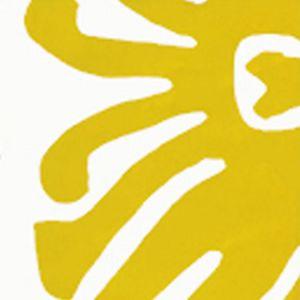 2470-09WP SIGOURNEY Yellow On White Quadrille Wallpaper