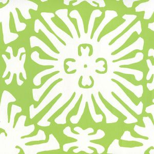 2485WP-02 SIGOURNEY REVERSE SMALL SCALE Jungle Green On White Quadrille Wallpaper