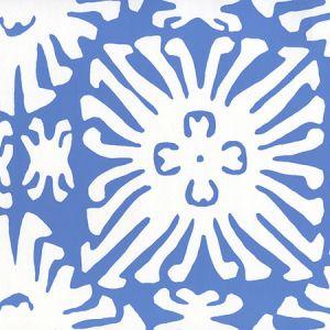 2485WP-13 SIGOURNEY REVERSE SMALL SCALE Royal Blue On White Quadrille Wallpaper