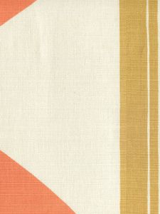 7830V-04 TETE A TETE VERTICAL Camel Peach Lime Quadrille Fabric
