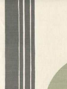 7830V-07 TETE A TETE VERTICAL Dark Gray Gray Lime Quadrille Fabric
