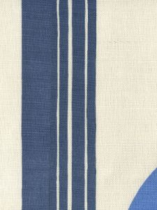 7830V-06 TETE A TETE VERTICAL Navy Red French Blue Quadrille Fabric