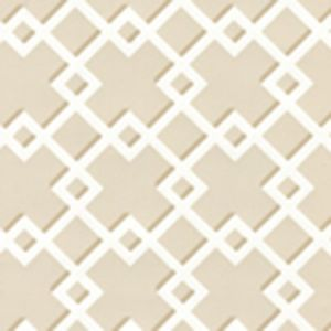 302791WW TODD Beige On White Quadrille Wallpaper