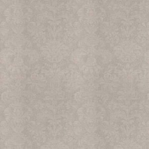 TUFA DAMASK Pewter Sheen Fabricut Fabric