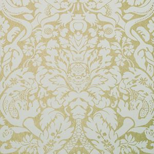 W0088/03 VALENTINA Gold Clarke & Clarke Wallpaper