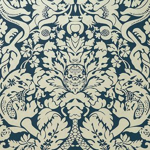 W0088/04 VALENTINA Midnight Clarke & Clarke Wallpaper