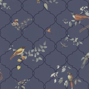 WBN 00022191 HAIKU Blue Scalamandre Wallpaper