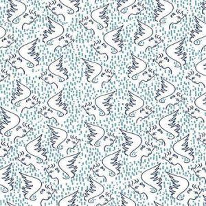 WH0 0001 6466 FIGURE D'ANGE Bleu Scalamandre Wallpaper