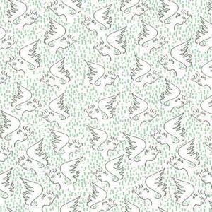WH0 0003 6466 FIGURE D'ANGE Celadon Scalamandre Wallpaper
